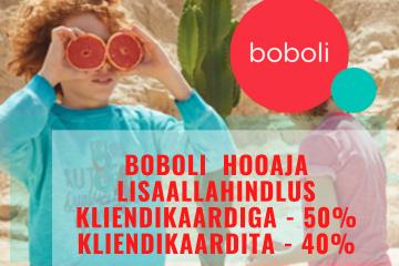 Boboli hooaja lisaallahindlus kuni 50%!